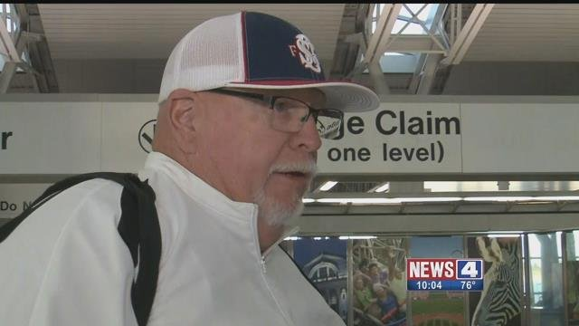 Passengers at Lambert Airport flying from Las Vegas described what it was like to be close to the mass shooting on the strip. Credit: KMOV