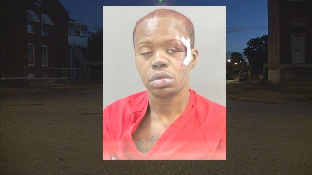 Minesha Hampton, 39, is accused of fatally hitting Johnny King, 44, with a car in the 400 block of Grave on Sept. 30. (Credit: Police / KMOV)