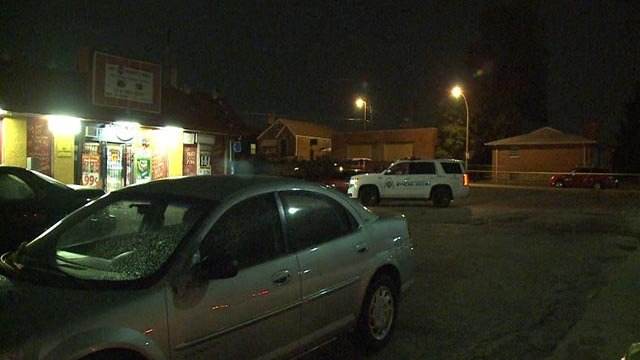 Police in the 4700 block of Goodfellow after a man was shot Tuesday night (Credit: KMOV)