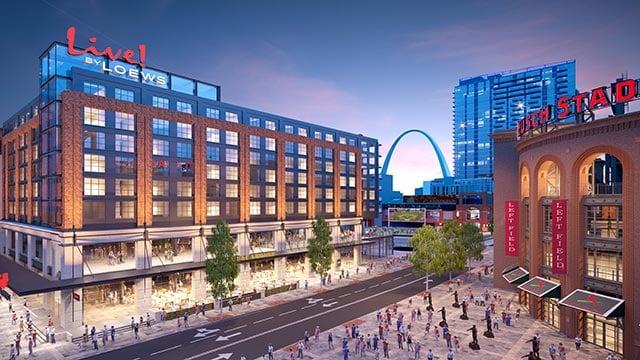 Rendering of the Live! by Loews - St. Louis (Credit: Loews Hotels & Co)