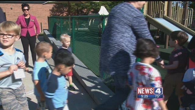 The playground at the Parkway Early Childhood Center was recently dedicated in honor of June Jesse. She died in 2016 at age 3 from multiple medical complications. Credit: KMOV