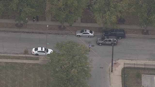 Police said two teens were shot near Jefferson Elementary School in North City Friday. Credit: KMOV