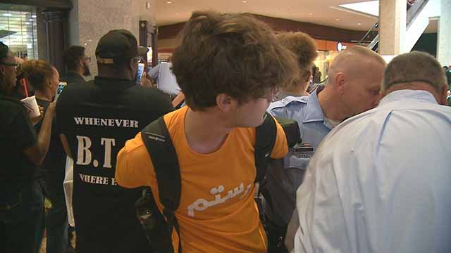 Jake Tallmage being arrested at the Galleria. Credit: KMOV