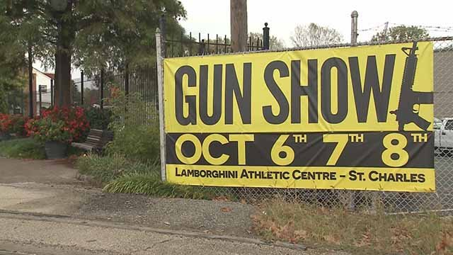 A gun show is being held in St Charles almost a week after the mass shooting in Las Vegas. Credit: KMOV