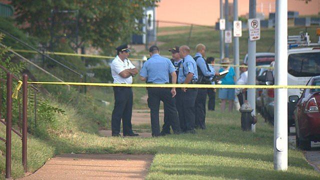 Police investigate homicide that occurred in he 5900 block of Sherry Avenue Saturday evening. (Credit: KMOV)