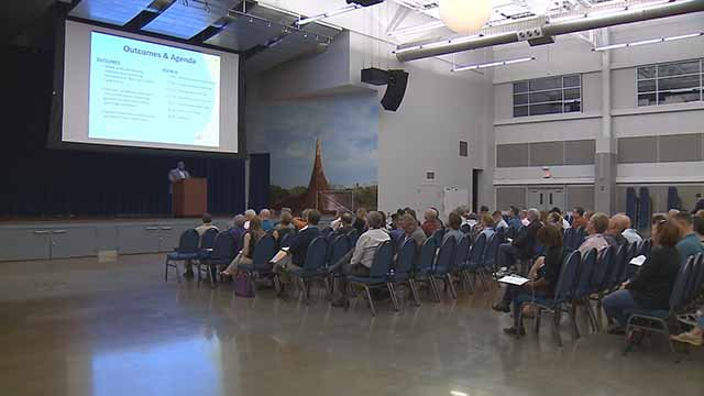 The organization Better Together is hosting a series of town hall meetings on the idea of unification of St. Louis City and County. Credit: KMOV