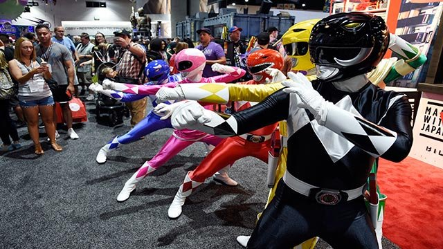 Power Ranger characters strike a pose for Comic-Con attendees during Preview Night of the 2017 Comic-Con International on Wednesday, July 19, 2017, in San Diego, Calif. (Photo by Chris Pizzello/Invision/AP)