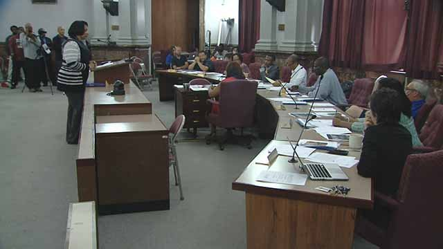All but one aldermen on this committee voted for a resolution calling for Police Chief Lawrence O'Toole to testify about accusations of police misconduct at protests. Credit: KMOV