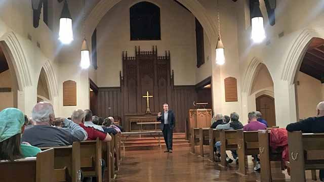 Some neighbors are concerned about a plan to turn a church in the South Hampton neighborhood into housing. Credit: KMOV