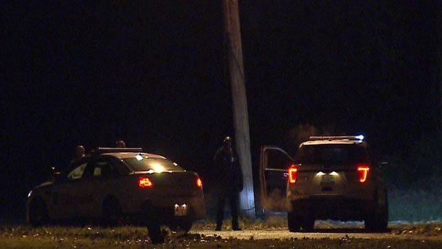 Police vehicles in the area of Andros Court and Samana Drive Monday night (Credit: KMOV)