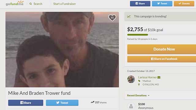 Mike and Braden Trower GoFundMe. Credit: KMOV