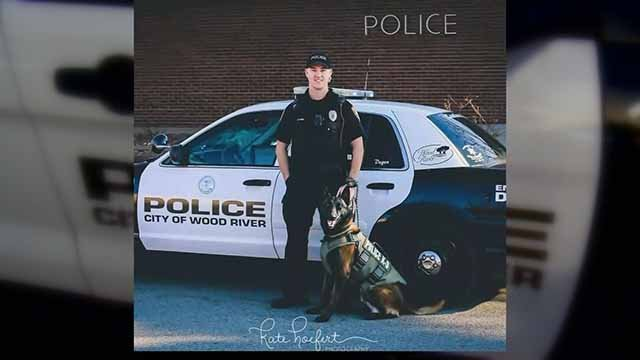 Community members said goodbye to Degen, a K9 officer who gave his life to the Wood River and East Alton communities. Credit: KMOV