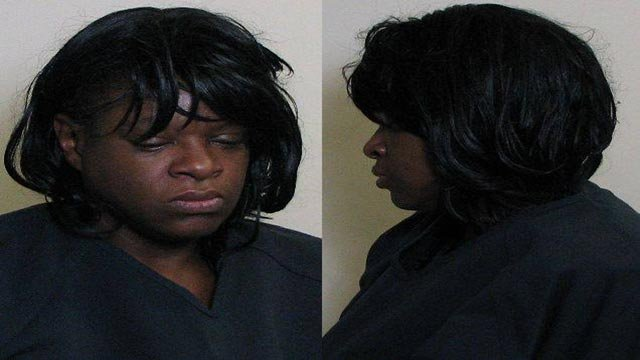 Carlette Whitfield is accused of stealing and throwing liquor bottles at Schnucks employees in Godfrey (Credit: Madison County Sheriff's Office)