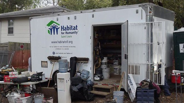 A Habitat for Humanity trailer (Credit: Facebook)