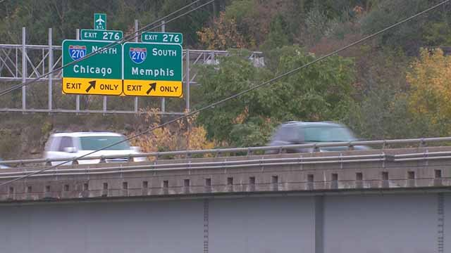 Changes are coming to several bridges on I-44 near I-270. Credit: KMOV