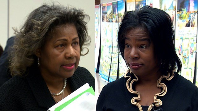 St. Louis Comptroller Darlene Green (left) and Missouri State Representative Karla May (right) (Credit: KMOV)