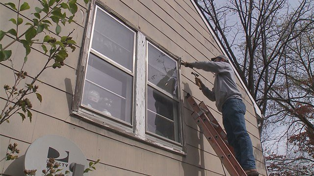On Friday, workers in St. Charles were out helping a homeowner who could not get the work done himself. (KMOV)
