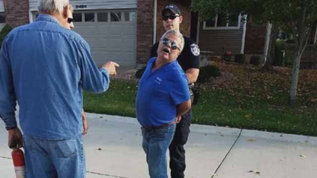 St. Onge being arrested. Credit: Lake St. Louis PD