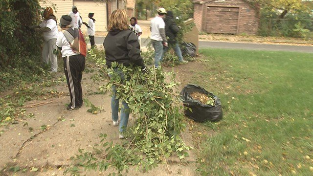 Nearly 100 volunteers came out Saturday morning to participate in the 4th 'Clean Sweep' of the year, put on by Better Family Life and Habitat for Humanity. (Credit: KMOV)