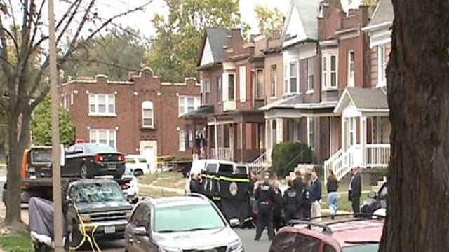 Police in the 4000 block of Greer after a woman was found dead Monday (Credit: KMOV)