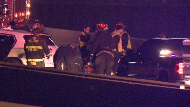 Police have confirmed at least one person has died in a two-vehicle accident that took place on I-64 Eastbound. (Credit: KMOV)