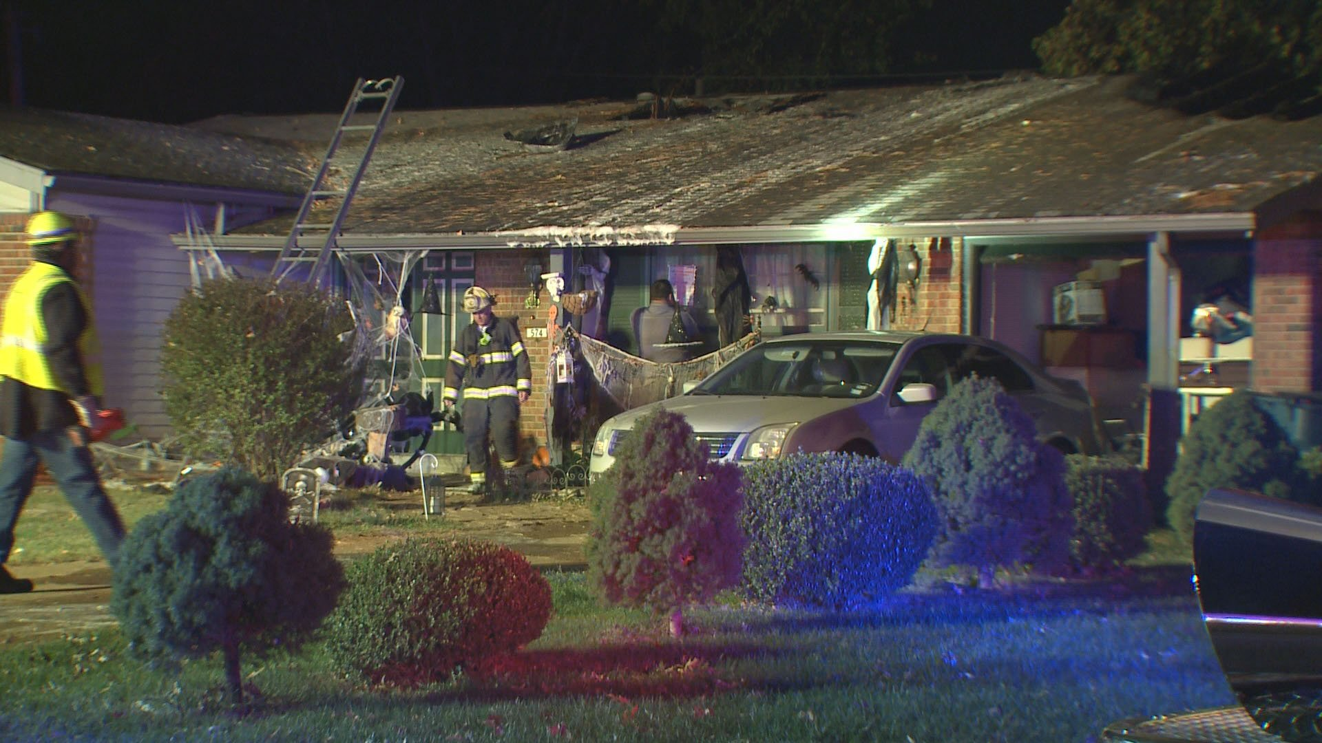 A home on Coach Light in Hazelwood caught fire Monday (Credit: KMOV)