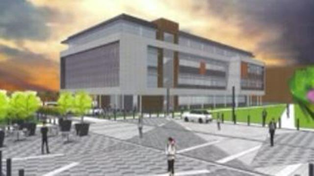 Rendering of the new Center for Nursing & Health Sciences (Credit: St. Louis Community College)
