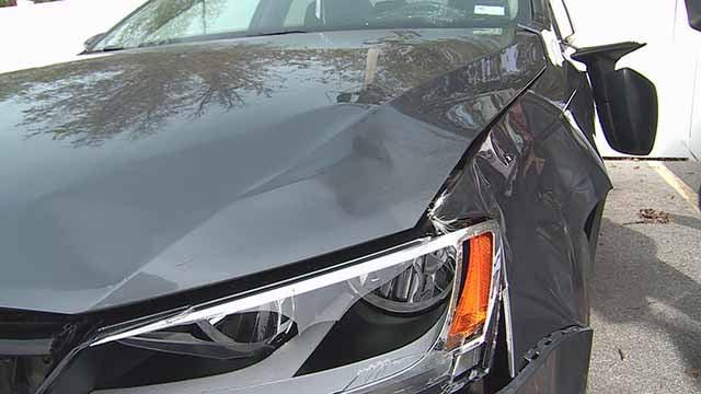 Car damage. Credit: KMOV