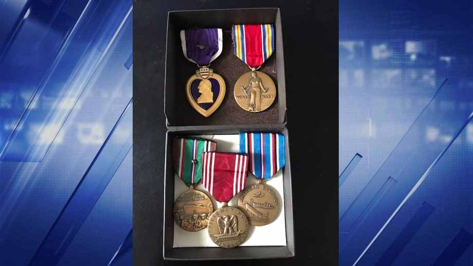 Goodwill says several World War II  medals were accidentally donated in downtown St. Louis. Credit: KMOV