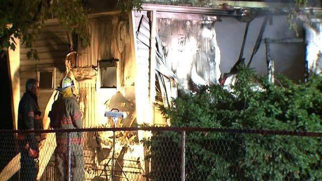 A man died after a home caught fire on Orlando Court in Fairview Heights Wednesday (Credit: KMOV)