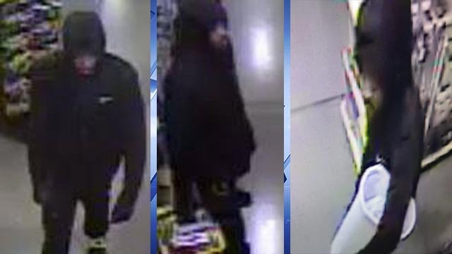 Surveillance photos showing the Godfrey armed robbery suspect (Credit: Madison County Sheriff's Department)