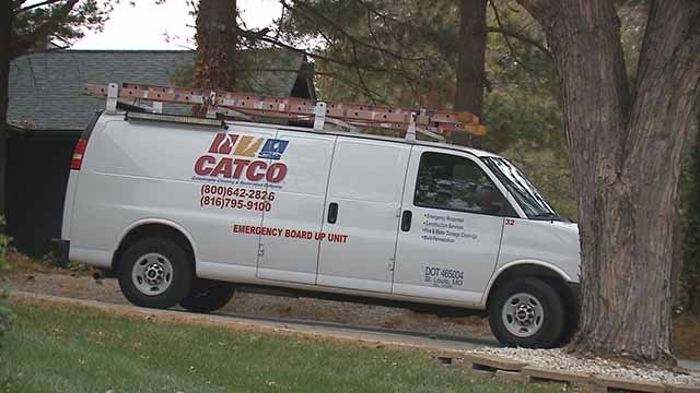 In  Lake Saint Louis, residents cannot park a commercial vehicle in their driveway. That means any vehicle that is used primarily for business, features signage or carries equipment. Credit: KMOV