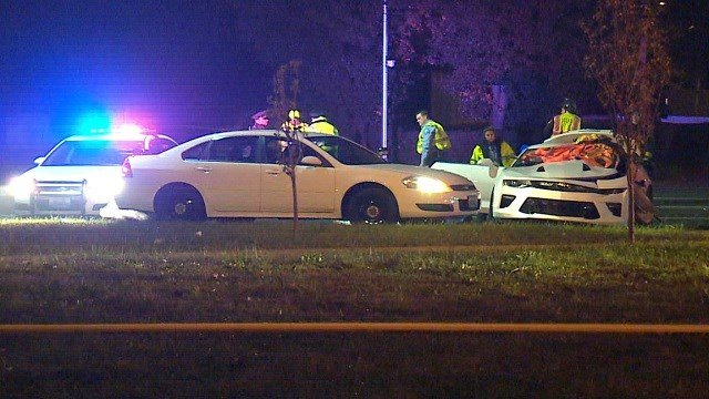 Firefighters said two victims are dead five were injured in a wreck that occurred in north St. Louis on Wednesday night. Credit: KMOV