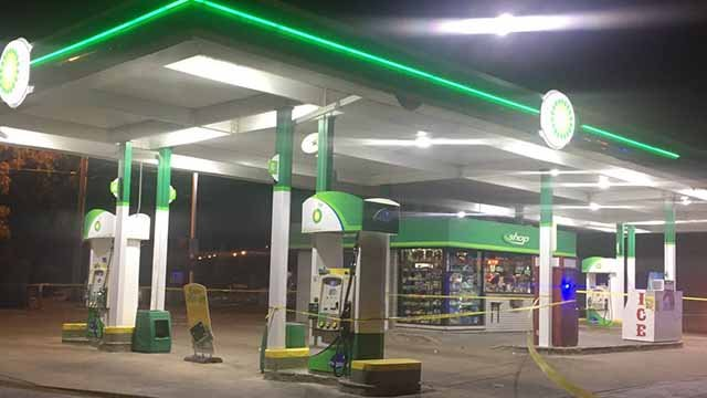A victim and suspects exchanged gunfire at this BP gas station in North Cit. Credit: KMOV