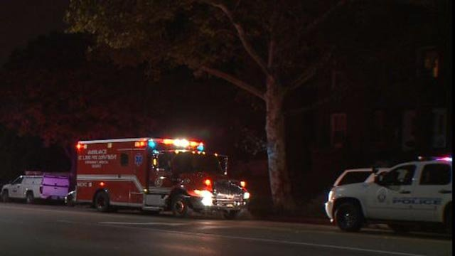An ambulance and police vehicle on South Grand after officers tased a man (Credit: KMOV)