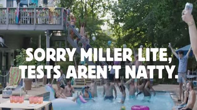 Still from YouTube video response by Natural Lite to Miller Lite ad (Credit: YouTube / Natural Lite)