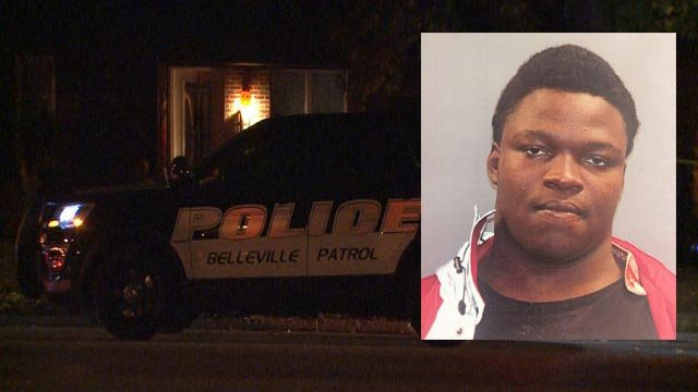 Quantez L Jones is accused of killing Deveon Hunt as they were firing shots into a home in Belleville (Credit: Police / KMOV)
