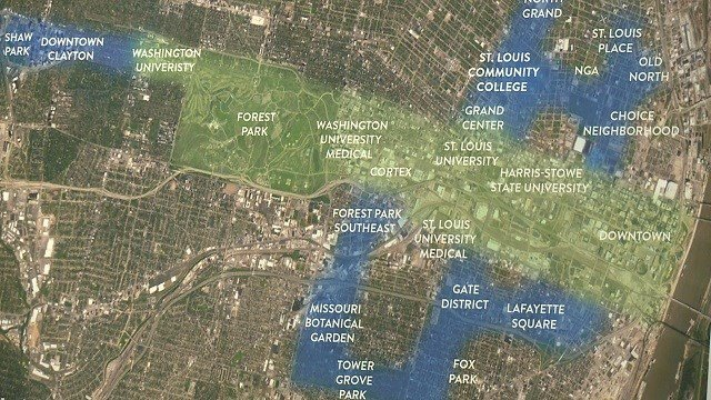 Trailnet proposed outlines of 12 miles of trails that will run throughout St. Louis. (Credit: KMOV)