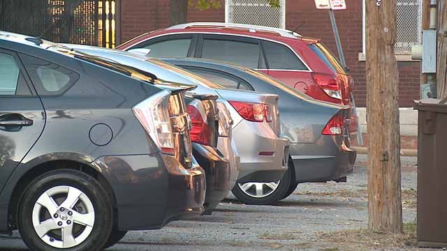 Cars in Soulard. Credit: KMOV