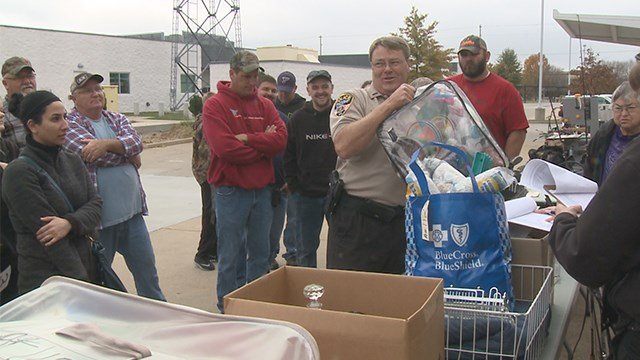 The St. Charles County Police Department is raising money in a unique way by taking stolen items and using them for good. (Credit: KMOV)
