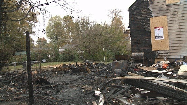 A house explosion in Ferguson left the garage nothing but a pile of rubble. (Credit: KMOV)