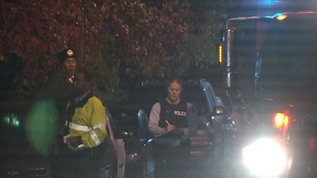 Emergency crews  in the 3700 block of Salena Sreet after a man was shot Tuesday (Credit: KMOV)