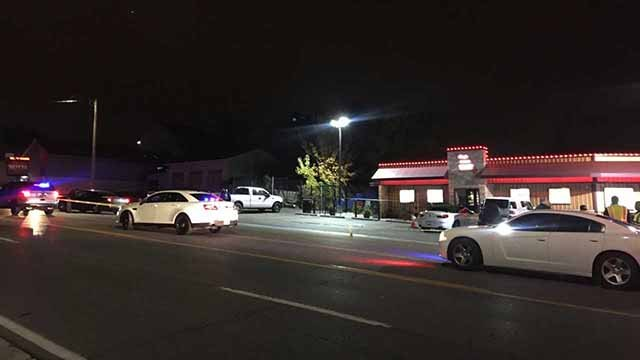 Police said a suspect threw an explosive object at them as he fled in Pagedale on Tuesday night. Credit: KMOV