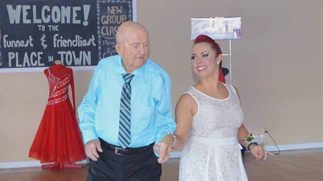 Army veteran Bill Hahs started taking dancing lessons at 85-years-old. Credit: KMOV