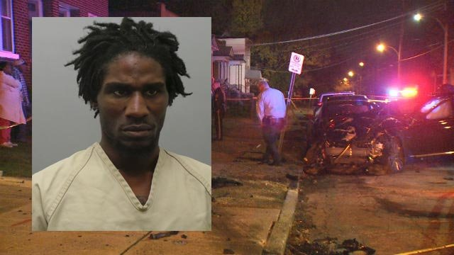 Lamar Bowens, 28, is facing multiple charges after a stolen vehicle crashed in North City Wednesday (Credit: KMOV / Police)