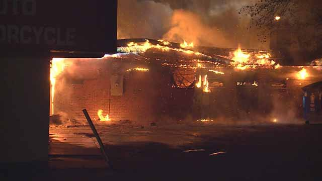 Queen's Royal Touch Massage Barber and Beauty Store was destroyed during the Ferguson riots, but the owner has found a way to rebuild. Credit: KMOV