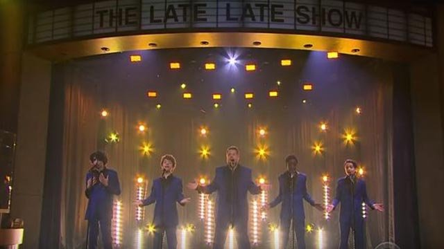 The boys from 'Stranger Things' and James Corden performed some Motown hits on 'The Late Late Show' (Credit: The Late Late Show with James Corden)