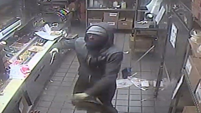 A suspect fired shots during a robbery of the Taco Bell in Collinsville (Credit: Collinsville Police Department)