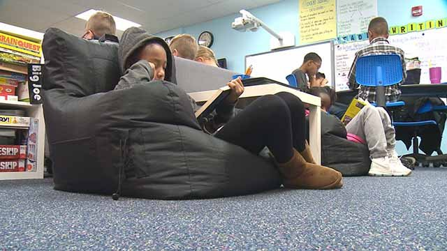 students lounging at Barretts Elementary in Manchester. Credit: KMOV