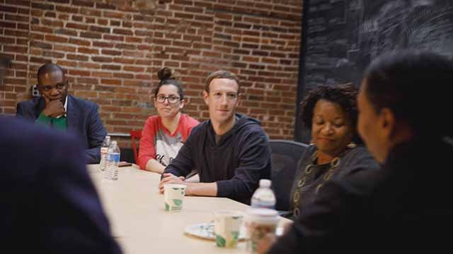Mark Zuckerberg was in St. Louis to launch new Facebook initiative Thursday. Credit: Facebook